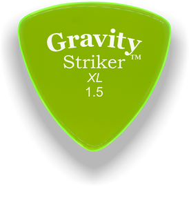 Striker XL 1.5mm Fluorescent Green Acrylic Guitar Pick Handmade Custom Best Acoustic Mandolin Electric Ukulele Bass Plectrum Bright Loud Faster Speed