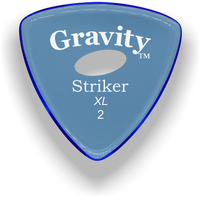 Load image into Gallery viewer, Striker XL 2.0mm Blue Elipse Grip Acrylic Guitar Pick Handmade Custom Best Acoustic Mandolin Electric Ukulele Bass Plectrum Bright Loud Faster Speed