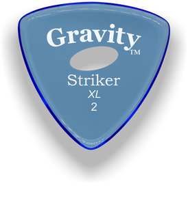 Striker XL 2.0mm Blue Elipse Grip Acrylic Guitar Pick Handmade Custom Best Acoustic Mandolin Electric Ukulele Bass Plectrum Bright Loud Faster Speed