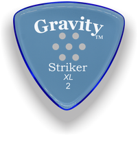 Load image into Gallery viewer, Striker XL 2.0mm Blue Multi-Hole Grip Acrylic Guitar Pick Handmade Custom Best Acoustic Mandolin Electric Ukulele Bass Plectrum Bright Loud Faster Speed