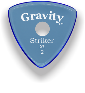 Striker XL 2.0mm Blue Single Round Grip Acrylic Guitar Pick Handmade Custom Best Acoustic Mandolin Electric Ukulele Bass Plectrum Bright Loud Faster Speed