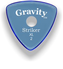 Load image into Gallery viewer, Striker XL 2.0mm Blue Single Round Grip Acrylic Guitar Pick Handmade Custom Best Acoustic Mandolin Electric Ukulele Bass Plectrum Bright Loud Faster Speed