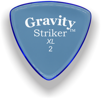 Load image into Gallery viewer, Striker XL 2.0mm Blue Acrylic Guitar Pick Handmade Custom Best Acoustic Mandolin Electric Ukulele Bass Plectrum Bright Loud Faster Speed