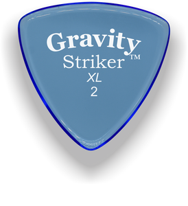 Striker XL 2.0mm Blue Acrylic Guitar Pick Handmade Custom Best Acoustic Mandolin Electric Ukulele Bass Plectrum Bright Loud Faster Speed