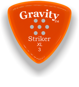 Striker XL 3.0mm Orange Multi-Hole Grip Acrylic Guitar Pick Handmade Custom Best Acoustic Mandolin Electric Ukulele Bass Plectrum Bright Loud Faster Speed