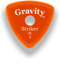Load image into Gallery viewer, Striker XL 3.0mm Orange Single Round Grip Acrylic Guitar Pick Handmade Custom Best Acoustic Mandolin Electric Ukulele Bass Plectrum Bright Loud Faster Speed