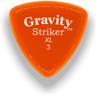 Load image into Gallery viewer, Striker XL 3.0mm Orange Acrylic Guitar Pick Handmade Custom Best Acoustic Mandolin Electric Ukulele Bass Plectrum Bright Loud Faster Speed