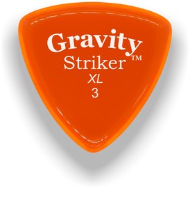 Striker XL 3.0mm Orange Acrylic Guitar Pick Handmade Custom Best Acoustic Mandolin Electric Ukulele Bass Plectrum Bright Loud Faster Speed