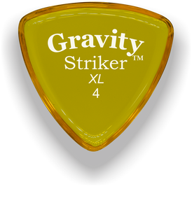 Striker XL 4.0mm Yellow Acrylic Guitar Pick Handmade Custom Best Acoustic Mandolin Electric Ukulele Bass Plectrum Bright Loud Faster Speed