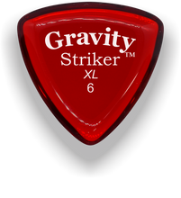 Load image into Gallery viewer, Striker XL 6.0mm Red Acrylic Guitar Pick Handmade Custom Best Acoustic Mandolin Electric Ukulele Bass Plectrum Bright Loud Faster Speed