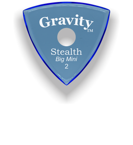 Stealth Big Mini 2.0mm Blue Single Round Grip Acrylic Guitar Pick Handmade Custom Best Acoustic Mandolin Electric Ukulele Bass Plectrum Bright Loud Faster Speed