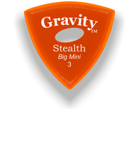 Load image into Gallery viewer, Stealth Big Mini 3.0mm Orange Elipse Grip Acrylic Guitar Pick Handmade Custom Best Acoustic Mandolin Electric Ukulele Bass Plectrum Bright Loud Faster Speed