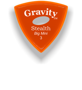 Stealth Big Mini 3.0mm Orange Elipse Grip Acrylic Guitar Pick Handmade Custom Best Acoustic Mandolin Electric Ukulele Bass Plectrum Bright Loud Faster Speed