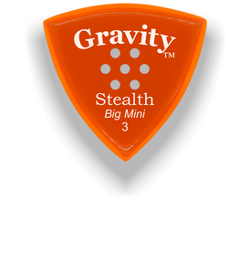 Stealth Big Mini 3.0mm Orange Multi-Hole Grip Acrylic Guitar Pick Handmade Custom Best Acoustic Mandolin Electric Ukulele Bass Plectrum Bright Loud Faster Speed