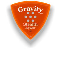 Load image into Gallery viewer, Stealth Big Mini 3.0mm Orange Multi-Hole Grip Acrylic Guitar Pick Handmade Custom Best Acoustic Mandolin Electric Ukulele Bass Plectrum Bright Loud Faster Speed