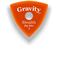 Load image into Gallery viewer, Stealth Big Mini 3.0mm Orange Single Round Grip Acrylic Guitar Pick Handmade Custom Best Acoustic Mandolin Electric Ukulele Bass Plectrum Bright Loud Faster Speed
