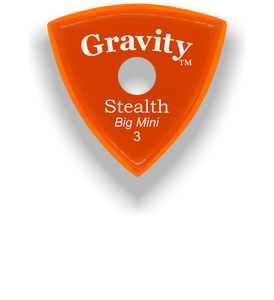 Stealth Big Mini 3.0mm Orange Single Round Grip Acrylic Guitar Pick Handmade Custom Best Acoustic Mandolin Electric Ukulele Bass Plectrum Bright Loud Faster Speed