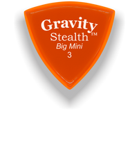 Load image into Gallery viewer, Stealth Big Mini 3.0mm Orange Acrylic Guitar Pick Handmade Custom Best Acoustic Mandolin Electric Ukulele Bass Plectrum Bright Loud Faster Speed