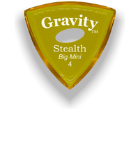 Load image into Gallery viewer, Stealth Big Mini 4.0mm Yellow Elipse Grip Acrylic Guitar Pick Handmade Custom Best Acoustic Mandolin Electric Ukulele Bass Plectrum Bright Loud Faster Speed
