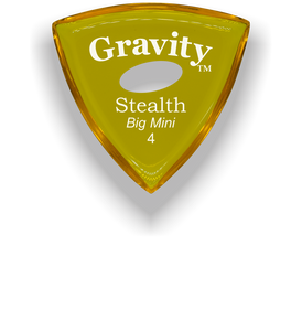Stealth Big Mini 4.0mm Yellow Elipse Grip Acrylic Guitar Pick Handmade Custom Best Acoustic Mandolin Electric Ukulele Bass Plectrum Bright Loud Faster Speed