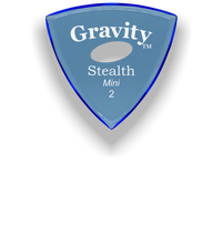 Load image into Gallery viewer, Stealth Mini 2.0mm Blue Elipse Grip Acrylic Guitar Pick Handmade Custom Best Acoustic Mandolin Electric Ukulele Bass Plectrum Bright Loud Faster Speed