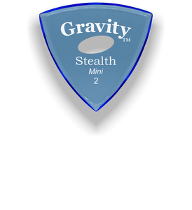 Stealth Mini 2.0mm Blue Elipse Grip Acrylic Guitar Pick Handmade Custom Best Acoustic Mandolin Electric Ukulele Bass Plectrum Bright Loud Faster Speed