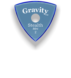 Stealth Mini 2.0mm Blue Single Round Grip Acrylic Guitar Pick Handmade Custom Best Acoustic Mandolin Electric Ukulele Bass Plectrum Bright Loud Faster Speed