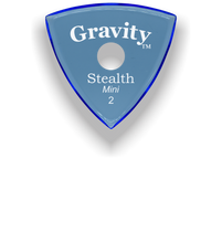 Load image into Gallery viewer, Stealth Mini 2.0mm Blue Single Round Grip Acrylic Guitar Pick Handmade Custom Best Acoustic Mandolin Electric Ukulele Bass Plectrum Bright Loud Faster Speed