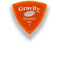 Load image into Gallery viewer, Stealth Mini 3.0mm Orange Elipse Grip Acrylic Guitar Pick Handmade Custom Best Acoustic Mandolin Electric Ukulele Bass Plectrum Bright Loud Faster Speed