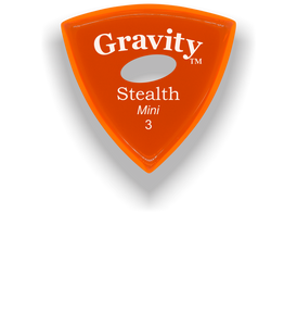 Stealth Mini 3.0mm Orange Elipse Grip Acrylic Guitar Pick Handmade Custom Best Acoustic Mandolin Electric Ukulele Bass Plectrum Bright Loud Faster Speed