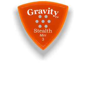 Stealth Mini 3.0mm Orange Multi-Hole Grip Acrylic Guitar Pick Handmade Custom Best Acoustic Mandolin Electric Ukulele Bass Plectrum Bright Loud Faster Speed