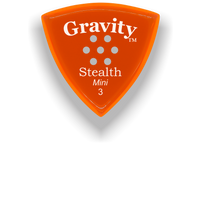 Load image into Gallery viewer, Stealth Mini 3.0mm Orange Multi-Hole Grip Acrylic Guitar Pick Handmade Custom Best Acoustic Mandolin Electric Ukulele Bass Plectrum Bright Loud Faster Speed