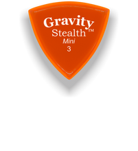 Load image into Gallery viewer, Stealth Mini 3.0mm Orange Acrylic Guitar Pick Handmade Custom Best Acoustic Mandolin Electric Ukulele Bass Plectrum Bright Loud Faster Speed