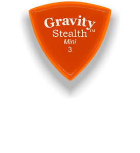 Stealth Mini 3.0mm Orange Acrylic Guitar Pick Handmade Custom Best Acoustic Mandolin Electric Ukulele Bass Plectrum Bright Loud Faster Speed