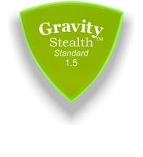 Load image into Gallery viewer, Stealth Standard 1.5mm Fluorescent Green Acrylic Guitar Pick Handmade Custom Best Acoustic Mandolin Electric Ukulele Bass Plectrum Bright Loud Faster Speed