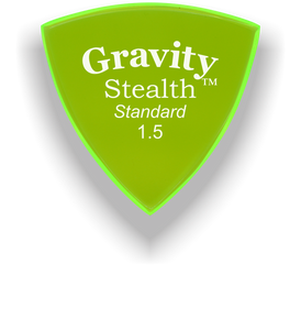 Stealth Standard 1.5mm Fluorescent Green Acrylic Guitar Pick Handmade Custom Best Acoustic Mandolin Electric Ukulele Bass Plectrum Bright Loud Faster Speed