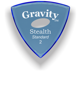 Stealth Standard 2.0mm Blue Elipse Grip Acrylic Guitar Pick Handmade Custom Best Acoustic Mandolin Electric Ukulele Bass Plectrum Bright Loud Faster Speed