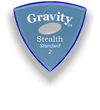 Load image into Gallery viewer, Stealth Standard 2.0mm Blue Elipse Grip Acrylic Guitar Pick Handmade Custom Best Acoustic Mandolin Electric Ukulele Bass Plectrum Bright Loud Faster Speed