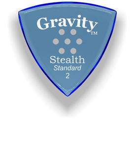 Stealth Standard 2.0mm Blue Multi-Hole Grip Acrylic Guitar Pick Handmade Custom Best Acoustic Mandolin Electric Ukulele Bass Plectrum Bright Loud Faster Speed