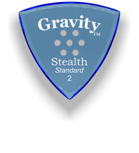 Load image into Gallery viewer, Stealth Standard 2.0mm Blue Multi-Hole Grip Acrylic Guitar Pick Handmade Custom Best Acoustic Mandolin Electric Ukulele Bass Plectrum Bright Loud Faster Speed