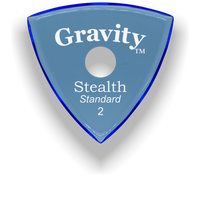 Load image into Gallery viewer, Stealth Standard 2.0mm Blue Single Round Grip Acrylic Guitar Pick Handmade Custom Best Acoustic Mandolin Electric Ukulele Bass Plectrum Bright Loud Faster Speed