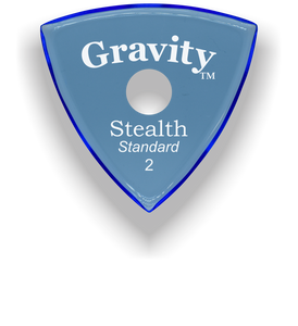Stealth Standard 2.0mm Blue Single Round Grip Acrylic Guitar Pick Handmade Custom Best Acoustic Mandolin Electric Ukulele Bass Plectrum Bright Loud Faster Speed