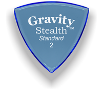 Load image into Gallery viewer, Stealth Standard 2.0mm Blue Acrylic Guitar Pick Handmade Custom Best Acoustic Mandolin Electric Ukulele Bass Plectrum Bright Loud Faster Speed