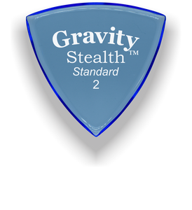 Stealth Standard 2.0mm Blue Acrylic Guitar Pick Handmade Custom Best Acoustic Mandolin Electric Ukulele Bass Plectrum Bright Loud Faster Speed