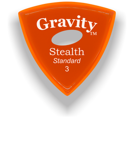 Stealth Standard 3.0mm Orange Elipse Grip Acrylic Guitar Pick Handmade Custom Best Acoustic Mandolin Electric Ukulele Bass Plectrum Bright Loud Faster Speed
