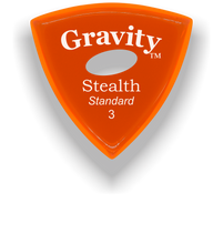 Load image into Gallery viewer, Stealth Standard 3.0mm Orange Elipse Grip Acrylic Guitar Pick Handmade Custom Best Acoustic Mandolin Electric Ukulele Bass Plectrum Bright Loud Faster Speed