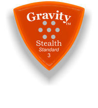 Load image into Gallery viewer, Stealth Standard 3.0mm Orange Multi-Hole Grip Acrylic Guitar Pick Handmade Custom Best Acoustic Mandolin Electric Ukulele Bass Plectrum Bright Loud Faster Speed