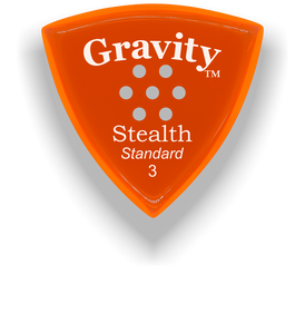 Stealth Standard 3.0mm Orange Multi-Hole Grip Acrylic Guitar Pick Handmade Custom Best Acoustic Mandolin Electric Ukulele Bass Plectrum Bright Loud Faster Speed