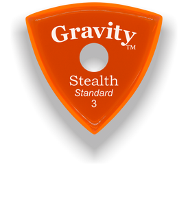 Stealth Standard 3.0mm Orange Single Round Grip Acrylic Guitar Pick Handmade Custom Best Acoustic Mandolin Electric Ukulele Bass Plectrum Bright Loud Faster Speed