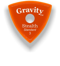 Load image into Gallery viewer, Stealth Standard 3.0mm Orange Single Round Grip Acrylic Guitar Pick Handmade Custom Best Acoustic Mandolin Electric Ukulele Bass Plectrum Bright Loud Faster Speed